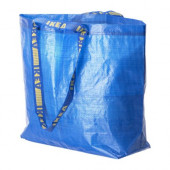 FRAKTA Shopping bag, medium, blue - 901.619.46