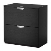 GALANT Drawer unit/drop file storage, black-brown - 202.552.60
