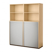 GALANT Storage combination with roll-front, birch veneer - 498.980.63