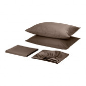 GÄSPA Sheet set, brown - 802.305.25