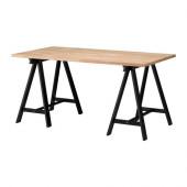 GERTON / ODDVALD Table, beech, black - 298.709.32