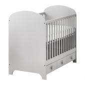 GONATT Crib, light gray - 902.579.58
