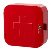 GUNNERN Lockable cabinet, red - 102.881.95