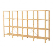 HEJNE 4 sections with shelves, softwood - 490.469.78