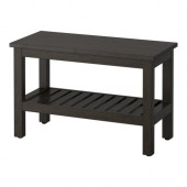 HEMNES Bench, black-brown stain - 202.236.22