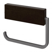 HJÄLMAREN Toilet roll holder, black-brown stain - 702.257.70