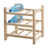 HUTTEN 9-bottle wine rack, solid wood - 700.324.51