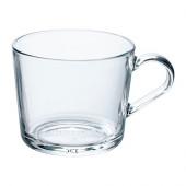 IKEA 365+ Mug, clear glass - 102.797.23