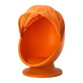 IKEA PS LÖMSK Swivel chair, orange, light orange - 902.642.18