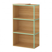 IKEA PS 2014 Storage combination with top, bamboo, light green - 790.116.99