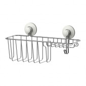 IMMELN Shower/soap basket with hook, zinc plated - 202.526.19