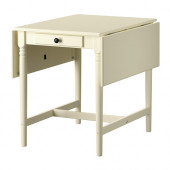 INGATORP Drop-leaf table, white - 102.224.06