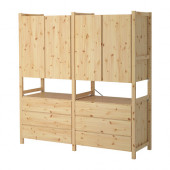 IVAR 2 sections/cabinet/chest, pine - 198.963.91