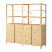 IVAR 2 sections/shelves/cabinet, pine - 998.963.73