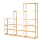 IVAR 3 sections/shelves, pine - 998.935.72