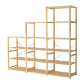 IVAR 3 sections/shelves, pine - 398.963.90