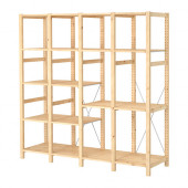 IVAR 4 sections with shelves, pine - 098.960.04