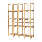IVAR 4 sections with shelves, pine - 590.130.05