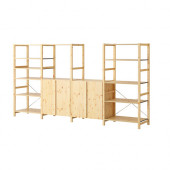 IVAR 4 sections with shelves, pine - 990.075.02