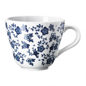 JÄMNT Mug, white, dark blue - 002.560.53