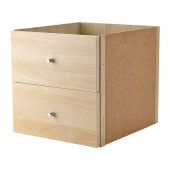 KALLAX Insert with 2 drawers, birch effect birch effect - 702.866.50