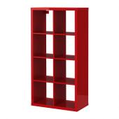 KALLAX Shelving unit, high gloss red - 802.788.38