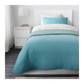 KARIT Bedspread and cushion cover, turquoise - 202.902.49