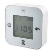 KLOCKIS Clock/thermometer/alarm/timer, white - 802.770.04
