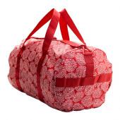 KNALLA Sports bag, red, white - 102.859.79