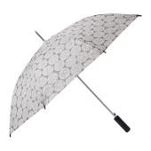 KNALLA Umbrella, gray, white - 202.828.19