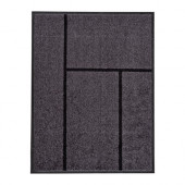 KÖGE Door mat, gray, black