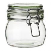 KORKEN Jar with lid, clear glass - 202.279.84