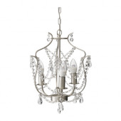 KRISTALLER Chandelier, 3-armed, silver color, glass - 200.894.64