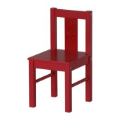 KRITTER Children's chair, red - 801.536.97