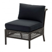 KUNGSHOLMEN / KUNGSÖ Chair, outdoor, black-brown - 390.250.33