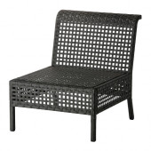 KUNGSHOLMEN One-seat section, outdoor, black-brown - 502.670.49