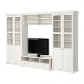 LIATORP TV storage combination, white - 390.460.64