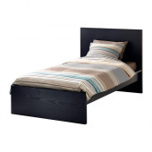 MALM Bed frame, high, black-brown, Luröy - 690.099.51