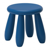 MAMMUT Children's stool, dark blue indoor/outdoor, dark blue - 702.675.62