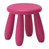 MAMMUT Children's stool, dark pink indoor/outdoor, dark pink - 302.675.59