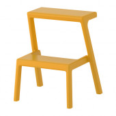 MÄSTERBY Step stool, yellow - 402.332.34