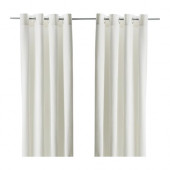 MERETE Curtains, 1 pair, bleached white - 900.468.43