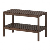 MOLGER Bench, dark brown - 602.414.50