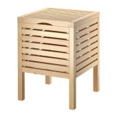 MOLGER Storage stool, birch - 702.414.59