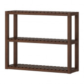 MOLGER Wall shelf, dark brown - 002.423.58