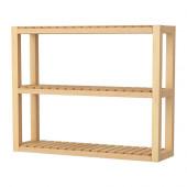MOLGER Wall shelf, birch - 602.423.60
