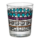 MURKLA Glass, patterned multicolor - 602.358.83