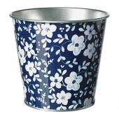 MUSKOTNÖT Plant pot, blue patterned - 602.338.22