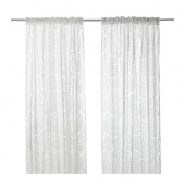 NORDIS Sheer curtains, 1 pair, white - 302.950.29