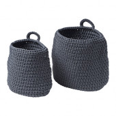 NORDRANA Basket, set of 2, gray - 102.882.99